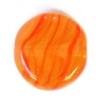 Glass Pressed Beads 8mm Flat Round Dark Salmon